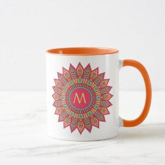 Bohoフレームのあなたのモノグラム マグカップ