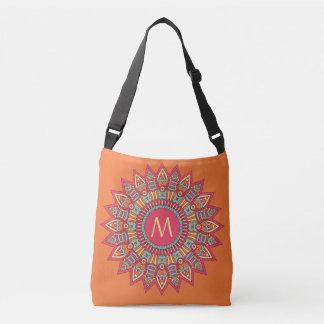 Bohoフレームのカスタムのあなたのモノグラムは袋に入れます クロスボディバッグ