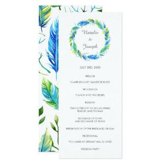 Boho明るい のモダンな結婚式プログラム カード