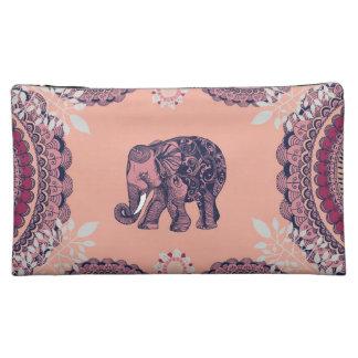 Boho象のバッグ コスメティックバッグ