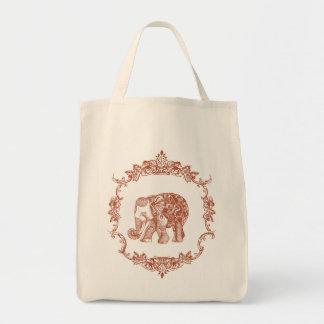 Boho象bag2 トートバッグ