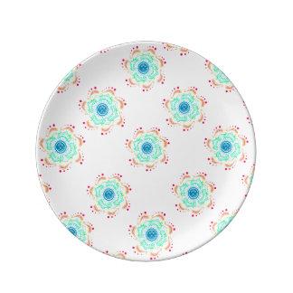 """Boho 8.5""""装飾的な磁器皿 磁器プレート"""