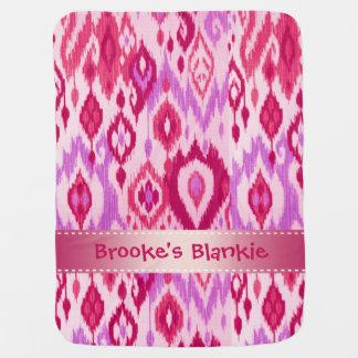 Boho Blankieのマゼンタの薄紫すみれ色katのタペストリー ベビー ブランケット