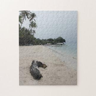Boholのビーチの郵便はがき ジグソーパズル