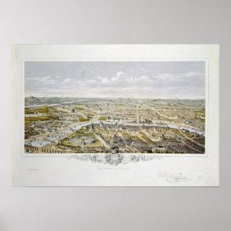 Bois deブローニュからのパリの眺め ポスター
