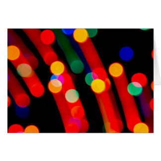 Bokeh Christmas Lights With Light Trails Card カード