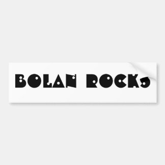 BOLANはバンパーステッカーを揺すります バンパーステッカー