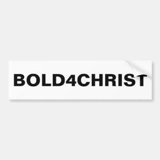 """Bold4Christ""のバンパーステッカー バンパーステッカー"
