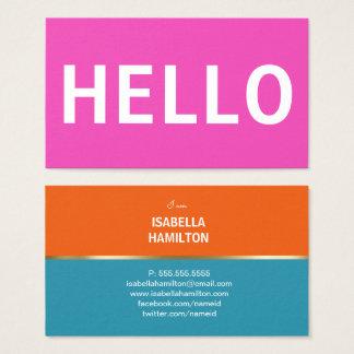 BOLD HELLO COLORS | BUSINESS CARD 名刺