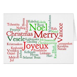 Boldogのkarácsonyt! ハンガリーのwfのメリークリスマス カード