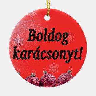 Boldogのkarácsonyt! ハンガリーbfのメリークリスマス セラミックオーナメント