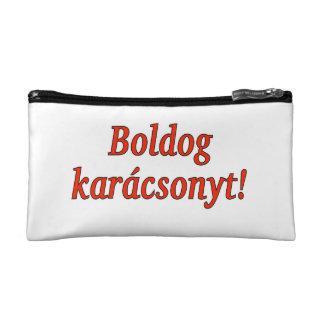 Boldogのkarácsonyt! ハンガリーrfのメリークリスマス コスメティックバッグ