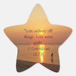 Bolinaoの星のステッカーの金日没 星シール