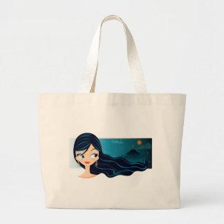 Bollywoodの女の子 ラージトートバッグ
