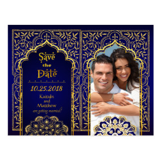 Bollywood Arabian Nights Save the Date ポストカード