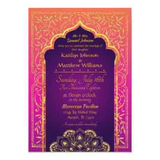 Bollywood Arabian Nights Wedding Invitation カード