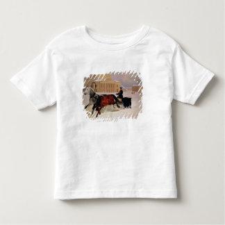 Bolshoiの跡の馬とのポーランド人の組 トドラーTシャツ