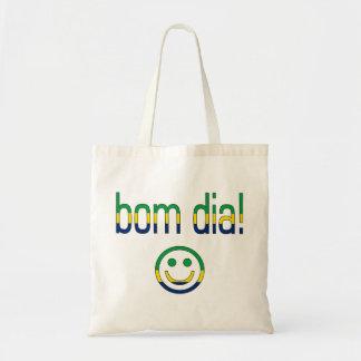 Bom Dia! ブラジルの旗色 トートバッグ