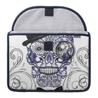 Bones Fun Ornate Sugar氏のスカルのデザイン MacBook Proスリーブ
