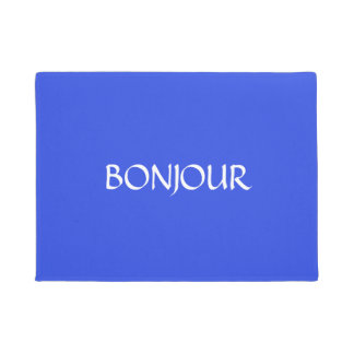 Bonjourのカスタムなドアマットのフランス語 ドアマット