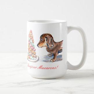 Bonjourのマカロンのマグ コーヒーマグカップ