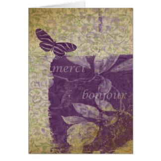 Bonjourの蝶 カード
