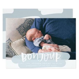 Bonjourの雲の誕生の発表カード カード