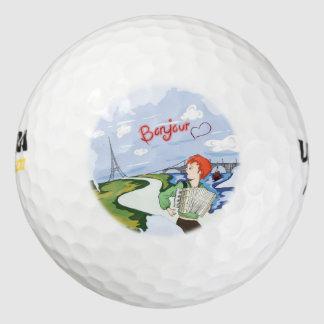 Bonjourパリのスケッチ ゴルフボール