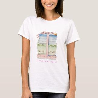 BonjourパリのマカロンのTシャツ Tシャツ