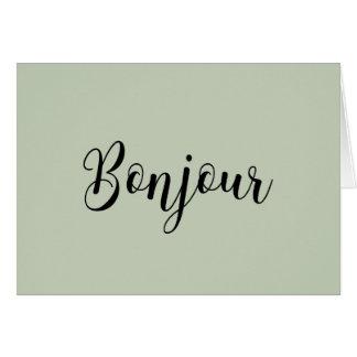 Bonjour-blackText カード