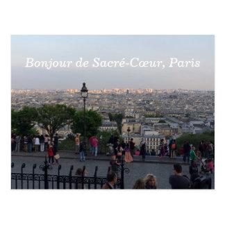 Bonjour de Sacre-Cœurr Sacredののハートパリフランス ポストカード