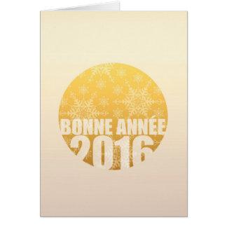 Bonne Année 2016年-フランスのな年賀状 カード