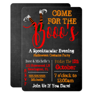 Boo On Halloween Booze And Boo's Party Invitation カード