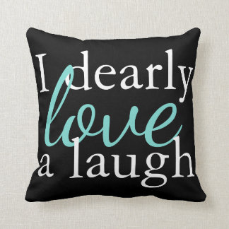 Book Quote Pillow Teal, White, Black - Jane Austen クッション