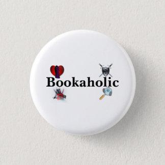 Bookaholicボタン 3.2cm 丸型バッジ
