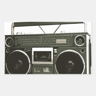 Boomboxのステレオラジオ 長方形シール
