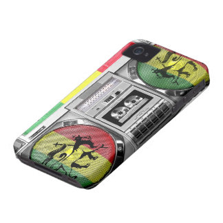 boomboxのレゲエ Case-Mate iPhone 4 ケース