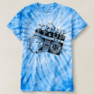 Boomboxの切札青い絞り染めのTシャツの上のそれ Tシャツ