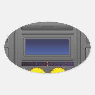 Boomboxの漫画 楕円形シール