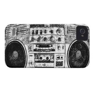 Boomboxの落書き Case-Mate iPhone 4 ケース