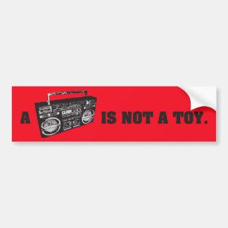 Boomboxはおもちゃではないです バンパーステッカー
