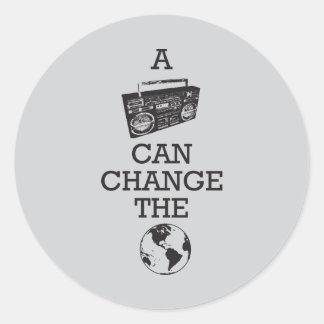 Boomboxは世界を変えることができます ラウンドシール