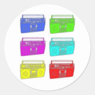 BOOMBOX数々のな色のraver ラウンドシール