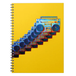 Boomboxesのレトロのノート ノートブック
