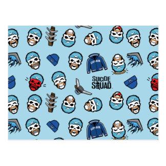 Boomerang Emoji Pattern自殺の分隊|の大尉 ポストカード