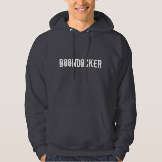 """""""BoonDocker""""の灰色のSledders.comフード付きスウェットシャツ パーカ"""
