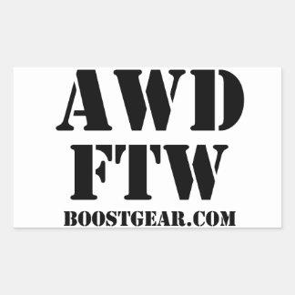 BoostGear.com著AWD FTWのステッカー 長方形シール