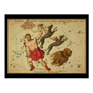 Bootes、杖Venaticiの昏睡状態Berenices、Q. Muralis ポストカード
