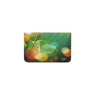 Boothbayメインカード財布の神秘的な葉 名刺入れ