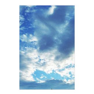 "Boothbayメイン5.5""で曇ったx 8.5""文房具 便箋"